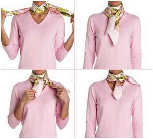 Как красиво повязать платок на шею