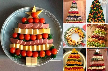 Как украсить новогодний стол - мясная тарелка в виде елки