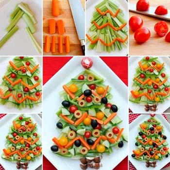 Украшение блюд на новый год оригинальны идеи с фото - как сделать елку из овощей