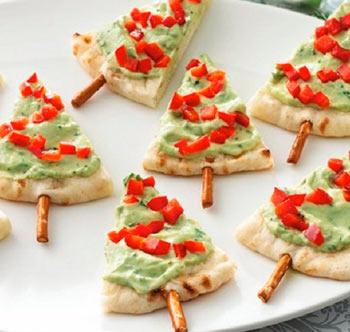 Фото различных идей и вариантов украшения новогодних блюд