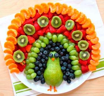 украшение блюд на новый 2020 год идеи - фазан
