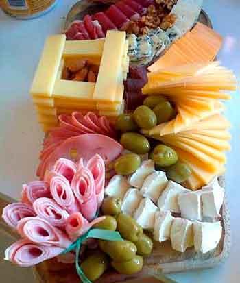 как красиво украсить блюда на новый год - закуски