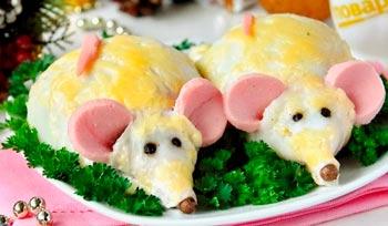 Как оригинально украсить блюда и закуски на Новый год Крысы
