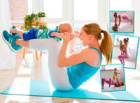 как убрать живот и похудеть после беременности в домашних условиях